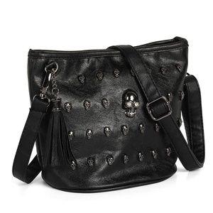 Leather Skull Shoulder Crossbody Bag